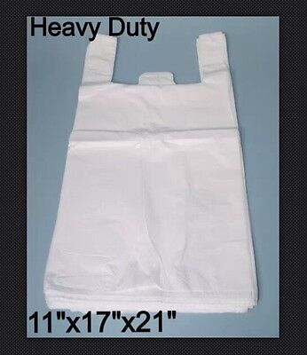 Heavy Duty White Vest Carrier Bags (850x Approx) 11