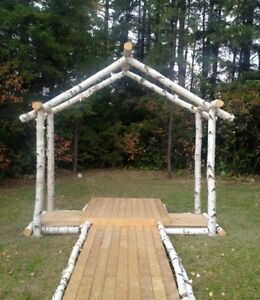 Beautiful Large Birch Archway