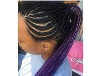 Afro/ European hairdresser braids, twists, weaves, faux locs, crochet, relax, treatments, micro ring