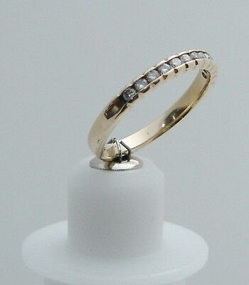DARING DELIGHT! 14K Yellow Gold Size 5.75 Ring W/ 12 Round Cut Diamonds N306-G  Daring Diamonds Diamond Ring