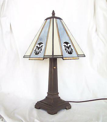 Stained Glass Colorado State University Rams Mission Desk Lamp Office (Colorado State Rams Lamp)