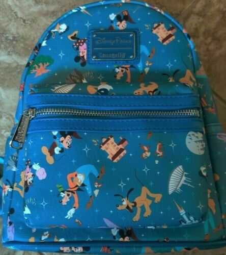 NEW Disney Parks Park Life & Attractions Icons Loungefly Mini Backpack 2020