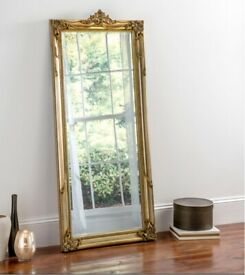 Gold Ornate Full Length Wall Mirror