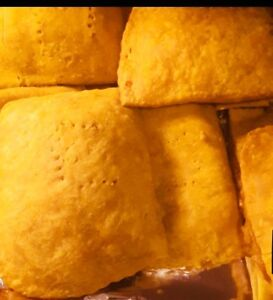 Jamaican style beef and chicken patties for orde!
