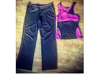 BRAND NEW Ladies Gym Gear - Trousers size 12, Top size 10