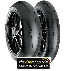 set 120 70 zr17 sc2 190 55 zr17 sc2 pirelli diablo supercorsa v2 race tyres ebay. Black Bedroom Furniture Sets. Home Design Ideas