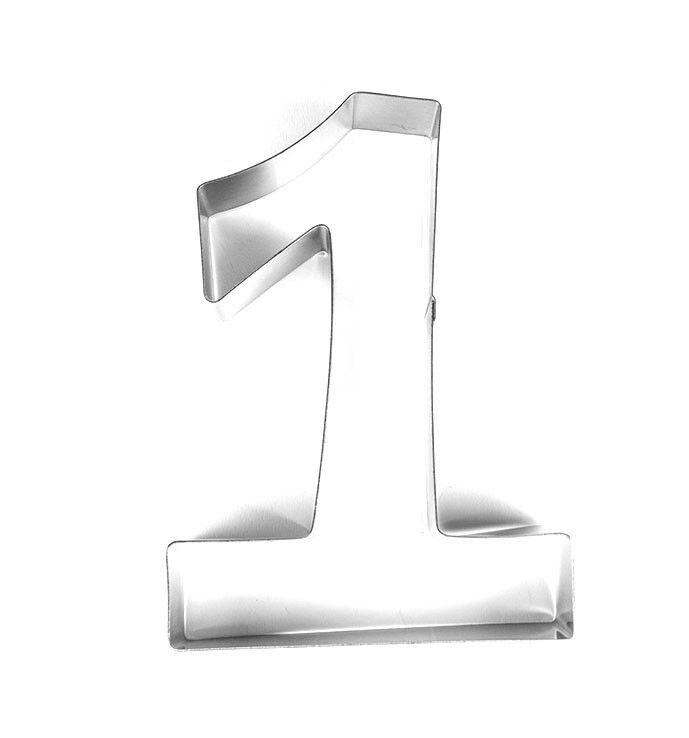 1 Groß Zahlen Ausstechform Backform Geburtstag Jubiläum Kuchen 19,5 x 13,7 x 3,5
