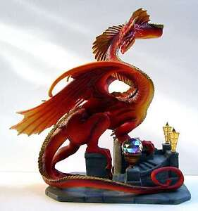 Franklin-Mint-Smaug-the-Golden-Dragon-The-Hobbit-Lord-of-the-Rings-NIB-RARE