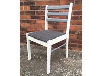 Retro style chair/ wool seat fabric