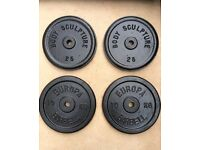 44kg CAST IRON WEIGHT PLATES SET