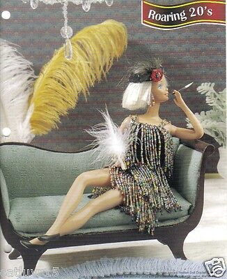 Fashion Doll Crochet Pattern  ~  Roaring 20's  ~ Dress and Headband ~ RARE ~ OOP (Roaring 20s Fashion)