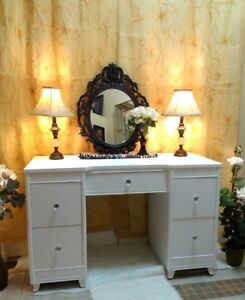 """2 Gorgeous Classic Marble Table Lamps, H 17"""" (TEXT/CALL Pls)"""