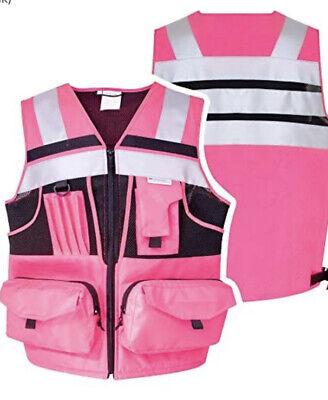 Scotchlite 3m Safety Vest - Reflective Material Pink Size 5xl Pockets Ladies