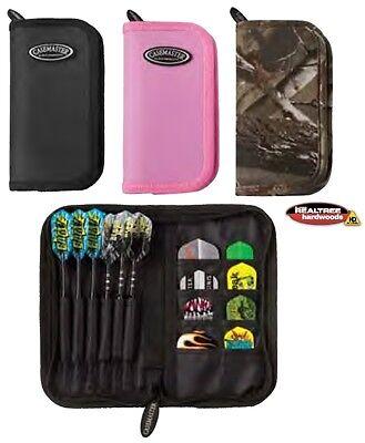 Pink CASEMASTER Deluxe Dart Case: 2 sets of FREE Dart Flights (Pink Dart)