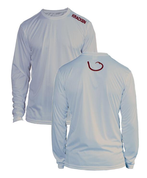 Microfiber Long Sleeve Fishing Shirt UPF 50 GREY Florida State FSU Colors