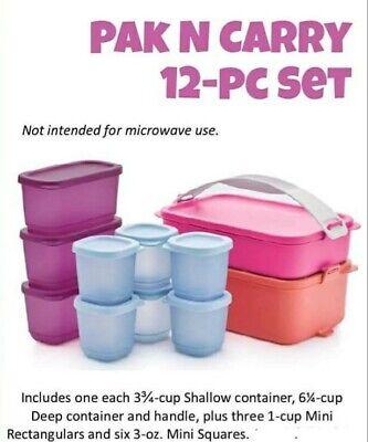 Tupperware Pak N Carry 12 Pc Set