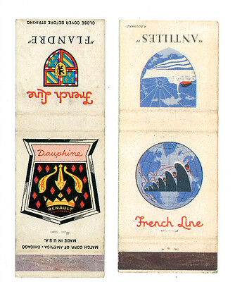 FRENCH LINE 2 MATCHBOX LABEL ANNI '50 MARINA