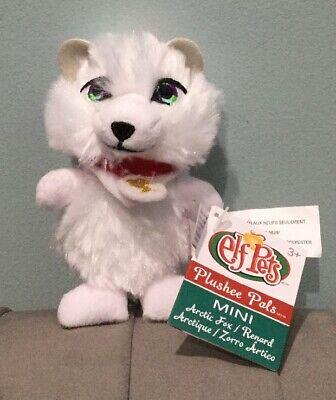 "New The Elf on the Shelf Elf Pets Plushee Pals Mini Clip-On 4"" Artic Fox"