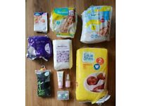 Nappies, newborn and mum to be items