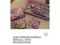 LEGO FRIENDS BUNDLE ALL INSTRUCTIONS