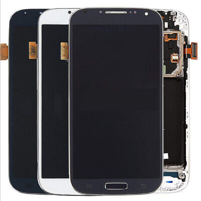 Für Samsung Galaxy S4 LTE GT-I9505 LCD Display Touch Screen +Rahmen Schwarz Weiß Weiß Touch Screen
