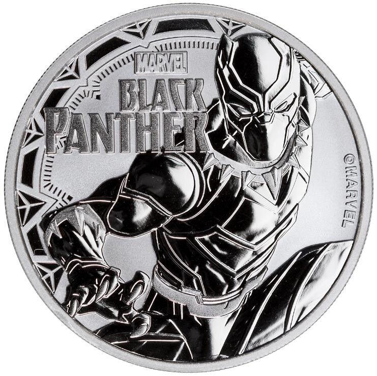 Tuvalu 1 Dollar 2018 Black Panther Marvel Serie (3.) 1 Oz Silber Stempelglanz ST