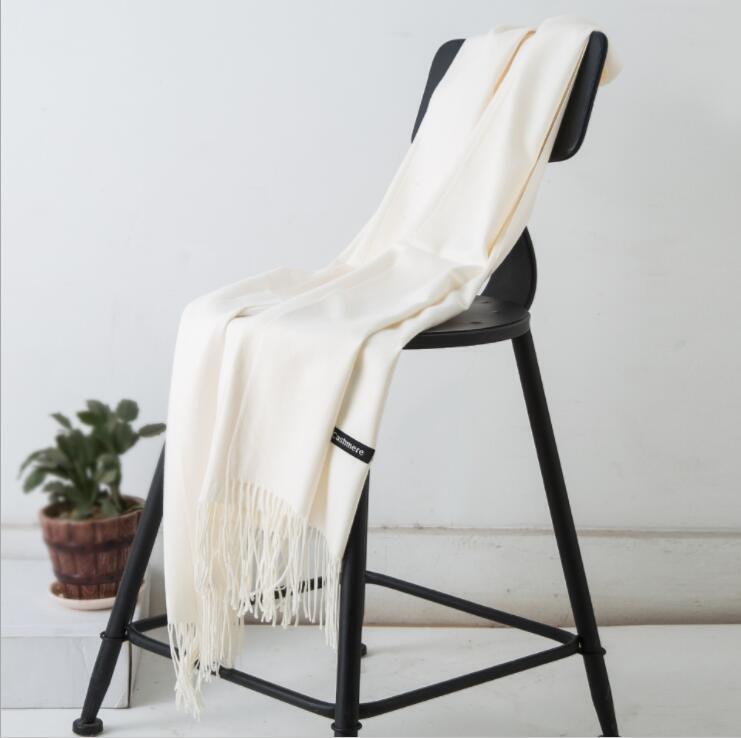Chic Scarf Women Winter Cashmere Blend Pashmina Solid Tassel Shawl Wrap Scarves