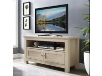 """Pollitt TV Stand for TVs up to 50"""" maple colour selling at £60 brand new boxed"""