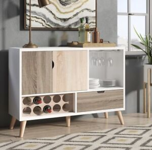 Rogerson Contemporary Server with Wine Rack