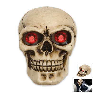 Human red gem eye skull Universal shift shifter knobs handle bone lever zombie
