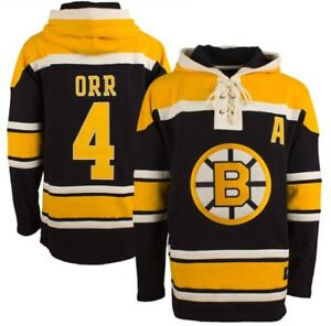 Bobby Orr Boston Bruins Hoodie Jersey Mens XL NWT Sweater Sweatshirt NHL NICE!