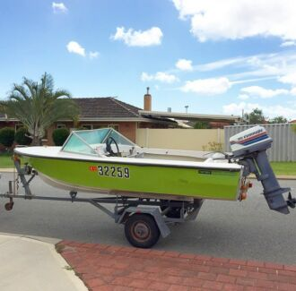 Fibreglass boat and Trailer- Licensed