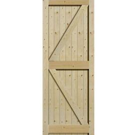 External Solid Pine Unfinished Framed, Ledged & Braced Gate (PFLB)