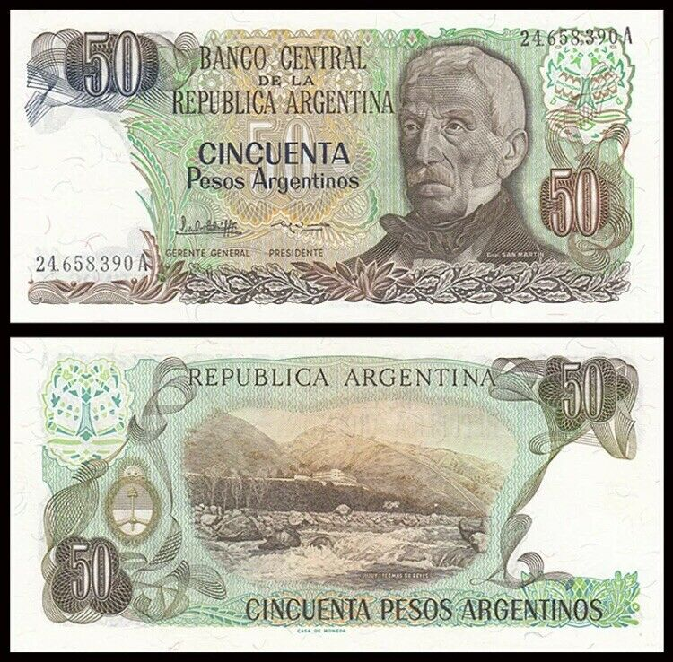 ARGENTINA 50 Pesos, 1983-1985, P-314, UNC World Currency