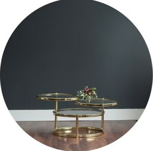 Brass and glass Hollywood regency style coffee table