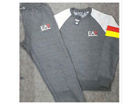 Charcoal Grey & Red Full Jogging Tracksuit