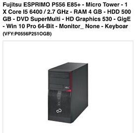 Fujitsu gaming desktop intel 6400 i5 Gtx 1050 TI 4gb gddr5 OC