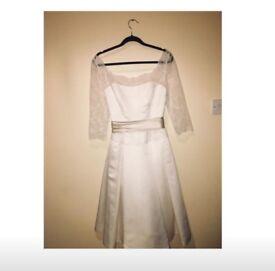 Tea Length Wedding Dress 10-12