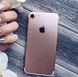 Immaculate Apple iPhone 7 rose gold 128gb unlocked