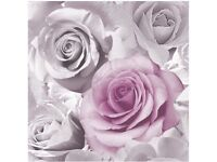 Rose Wall paper (Pink) 2 rolls