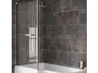 L Shaped Bath /shower Screen New