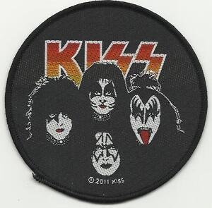 KISS-four-faces-2011-circular-WOVEN-SEW-ON-PATCH-paul-stanley-gene-simmons
