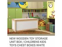 Brand new extra large wooden storage toy box.