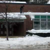 Roof, snow removal