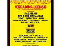 Reading Festival weekend camping tickets and Early Bird Entry Tickets