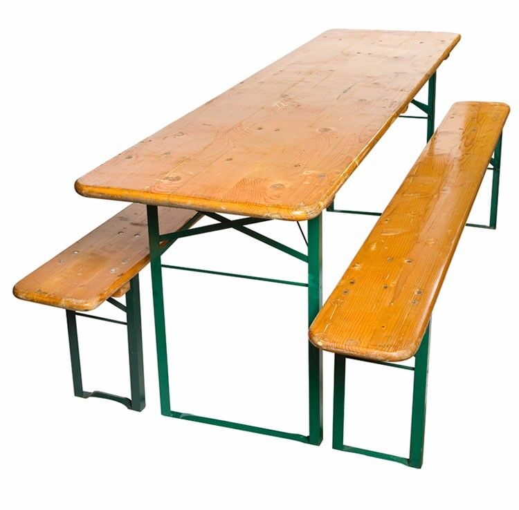 Delicieux German Beer Hall Folding Table And Benches Set