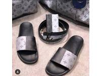 Grey and black LV slide