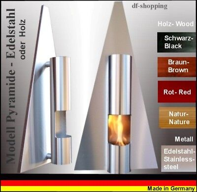 Ethanol- und Gelkamin Cheminee Kamin Fire place Pyramide - Wählen Sie die Farbe