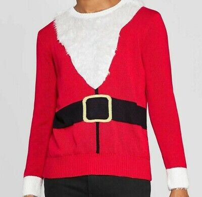 Mens Ugly Christmas Santa Claus Suit Sweater NEW size XXL ()