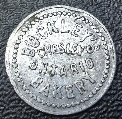Vintage BUCKLEY'S BAKERY Chesley, Ontario MERCHANT TOKEN-Good for One Half Loaf